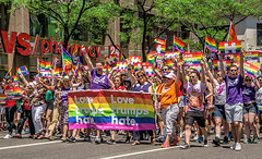 Love Trumps Hate! (JMS2) Tags: nyc people march message manhattan protest parade gaypride fifthavenue cause prideparade2016