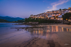 Lastres (PiTiS ~) Tags: longexposure travel blue sea espaa seascape beach mar town pueblo asturias playa bluehour lastres viajar asturies