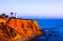 Point Vicente Light House ( In 2 Making Images | L.A.) Tags: california blue cliff usa beach water clouds digital eos rocks albert palmtree hdr whitesky beachrocks ranchopalosverdes photomatix pointvicentelighthouse dicoverla