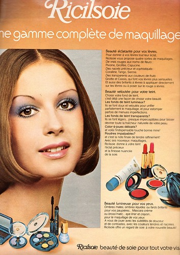 The 1970s-1973 ad for Ricilsoie makeup