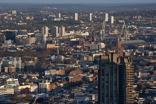Barbican Rooftop, Kings Cross and Primrose Hill from Tower 42