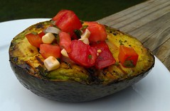 grilledavocado (ThatStephanie) Tags: vegetables avocado vegan grilling summerdinner