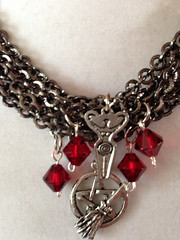 Celebration of the Goddess 2 (eldwenne) Tags: red silver goddess pentagram wicca pagan wiccan