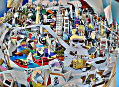 Partial view of Ciudad de Papel (Jeyc Balmaseda) Tags: city art buildings paper arquitectura origami ciudad kirigami papel contruction construcción papiroflexia 2012 cityview cubano cubanart jeycbalmaseda papiroflexiacubana