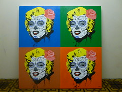 Marilyn (Jonathan Daga) Tags: portrait london argentina marilyn illustration brighton jonathan marilynmonroe drawings pop mexican monroe joda skullgirl mexicanrestaurant daga mexicanskull jonathandaga dossombreros