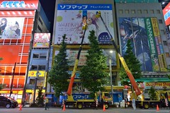 20135   (AM) akihabara akiba (PhotoAkiba) Tags: japan advertising tokyo mainstreet   akihabara nightview akiba underconstruction  madoka electrictown        hatsunemiku