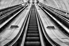 Underground (Nick-K (Nikos Koutoulas)) Tags: street uk england bw london station architecture underground metro geometry steps oxford