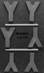 MLN083 (Chocolate Concepts) Tags: y chocolate letters number numbers letter mold