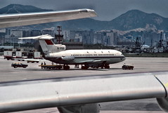 Air China? B-258, Hong Kong airport (1982) (Duncan+Gladys) Tags: hk hongkong enhanced