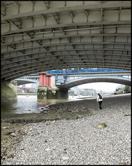 Mudlarking Under Blackfriars Bridge (JodBart) Tags: london water thames river bridges lowtide mudlarking