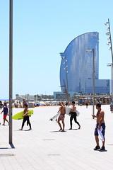 Barceloneta (Puma 68) Tags: barcelona sea beach sport 50mm surf mare spiaggia barcellona canonef50mmf14usm flickrtravelaward