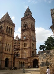 Prag Mahal, Bhuj (bodythongs) Tags: voyage travel india tower tourism photo earthquake italian nikon risk gothic columns royal prag mahal palace damage palais restoration residence indien palast bharat gujarat palacio paleis bhuj    gujarati     indiya    d5100    guyarat       bodythongs