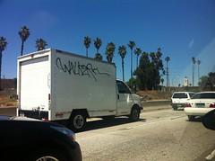 (TheSmell) Tags: truck graffiti la los angeles tag walker freeway graff bomb