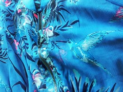 Jacket 218/365 060813 (Carmen's Year) Tags: bird pad fabric jacket aug flickrandroidapp:filter=none hpad060813