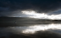 Moody Morning (Tracey Whitefoot) Tags: light lake sunrise dawn scotland early mood moody argyll august rays loch tracey lomond luss bute whitefoot 2013