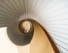 Spiral Staircase at the Old Point Loma Lighthouse (Bill Gracey) Tags: california spiral sandiego curves shapes pacificocean spiralstaircase pointloma sandiegobay cabrillonationalmonument oldpointlomalighthouse pacificphotographicsociety