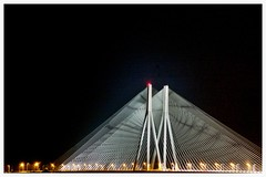 Worli sea link (gags_d_rebel) Tags: bridge light sky india night cables bombay mumbai worli seaface sealink