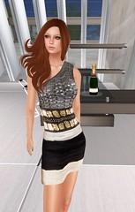 Bye Bye Summer Hunt item: Liv Glam Blue Ivy Sequin Dress (Hidden Gems in Second Life (Interior Designer)) Tags: summer glam liv bye hunt
