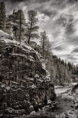 Haunting Chill (KRHphotos) Tags: winter cliff snow nature river landscape colorado unitedstates canyon marble carbondale hdr crystalriver