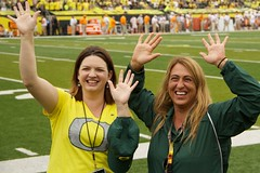 Hands in the air! (kellimatthews) Tags: green college yellow oregon football university ducks nike coaching
