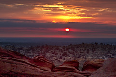 Red Dawn, Red Rocks (mclcbooks) Tags: morning light sun sunrise landscape dawn colorado redrocks morrison daybreak