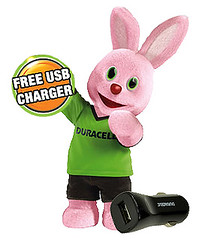 Duracell Bunny Free USB Charger