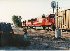 ABS (MILW157) Tags: railroad red apple train track candy sub line soo oconomowoc signal abs watertown sd60 6058