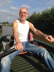 Loosdrechtse Plassen - Tijs roeiend naar De Vier Elementen 1 (TijsB) Tags: camping lake nature utrecht rowing fkk loosdrechtseplassen gaycouple naturists devierelementen tijsjoan naturistenvereniging
