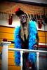 Happy Zombieween (gwynyfier) Tags: newyork lady zombie cigarette boa showgirl amusementpark americana sixflags saloon manequin storyland lomoish greatescape 2013