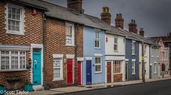Coloured Terrace (Scrufftie) Tags: uk england canon unitedkingdom hampshire lymington canon5dmkii lightroom4