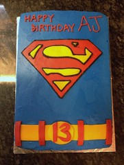 Superman Cake by Amanda, Raleigh Durham, NC, www.birthdaycakes4free.com