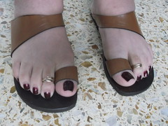 DSCF2383 (sandalman444) Tags: color male feet long sandals nail pedicure care toenails pedicured toerings mensfeet