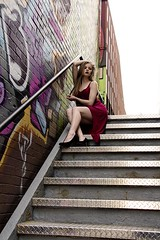 (Kaylyn Dunn) Tags: portrait stairs graffiti emily gothic blonde kensington alternative 2013 kaylyndunn kaylyndunnphotography kaylynchrystaldunnphotography