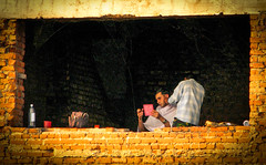Warzone barbershop (aminah51) Tags: pakistan haircut army volcano ruins military goma congo bangladesh drc monuc milob banmp