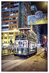 tram in wan chai (LPstyle) Tags: china road street old trip travel light sky house building heritage car skyline night skyscraper photoshop lens island photo reflex nikon asia flickr mood shot balcony taxi south central picture tourist east hong kong queens hd nikkor wan kowloon chai hdr 2428 d7000 ringexcellence