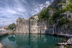 Kotor Moat (pbr42) Tags: water wall h2o citywalls fortification moat fortress hdr montenegro kotor