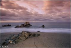 _81C3482.jpg (Mafr-Mcfa) Tags: espaa mar agua playa arena amanecer cielo nube roca santpoldemar