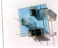 LBDMLCRDC bleu II ( 2004 ), plexy, films plastiques, inox. (emmanuelviard75) Tags: films inox plexy