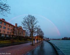 Christmas Day Rainbow (Tero Koski) Tags: sunrise helsinki 2512 joulupiv