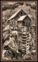 Crystal Mill CO 2000-1-020 (the Gallopping Geezer 3.8 million + views....) Tags: bw mill abandoned film sepia canon town blackwhite cowboy colorado 2000 crystal decay ghost scenic historic mining faded worn western ghosttown rockymountains marble backroads derelict geezer powerhouse crystalmill oldwest sheepmountain