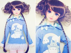 SD Hoodie - Totoro in the Clouds (Cyristine) Tags: doll mami totoro bjd volks creamy