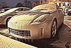 Winter storm (K. Freese) Tags: winter snow storm cold ice water car nikon alabama hdr d60