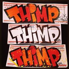 Some letters (Thimp.) Tags: urban color graffiti letters sunday stickers marker usps graff jams slaps 2014 thimp stickerporn
