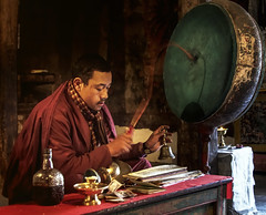 KASHMIR PORTRAIT (Dr Anirban Ray) Tags: winter india buddhist prayer praying monk buddhism monastery kashmir ladakh jammu thiksey