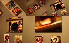 Dimitra displays... (Teteel) Tags: colours photos exhibition photocollage femalephotographer dimitramilaiou
