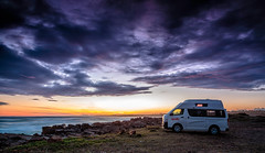 Overnighter at Crowdy (artjom83) Tags: sunset beach water night clouds canon landscape coast waves pacific cloudy head australia cliffs camper downunder eastcoast crowdy canon6d
