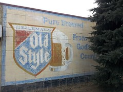 Old Style ghost sign - Kenosha WI (happily Evan after) Tags: old building beer sign mural paint painted ghost ad style advertisement mug wi kenosha