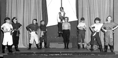 Longlands (theirhistory) Tags: children boys kids school event stage ship cutlas box belt rubberboots curtains sail sword primary junior uk gb class form pupils students education