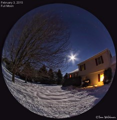 Full Moon February 3 2015 (The Dark Side Observatory) Tags: moon night lensbaby canon stars space fullmoon fisheye moonrise astrophotography planets astronomy nightsky jupiter february cosmos astronomer 2015 canon6d tomwildoner