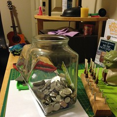 My swear jar after practicing piano... (Spiralmoons) Tags: music reeds major yoda piano fender acoustic bassoon kidding stinks quiltingmat uploaded:by=flickstagram withpickup instagram:photo=869982718713631736181407531